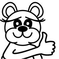 Lustiger Bär - Daumen hoch