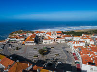 Aerial view of Nazare town in Portugal
