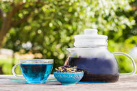 Asian floral blue tea for weight loss