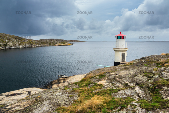 Leuchtturm in Mollösund in Schweden
