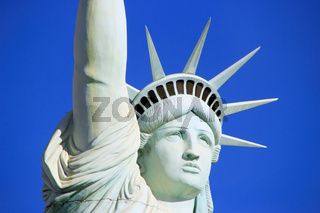 Close up of Replica of Statue of Liberty, New York - New York hotel and casino, Las Vegas Nevada