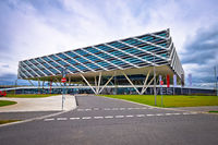 Adidas headquarter futuristic World of Sports buildings view