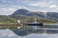 Fähre am Nordsaltenfjord