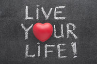 live your life heart