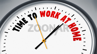clock with text time to work at home