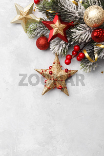 Christmas or new year greetings card