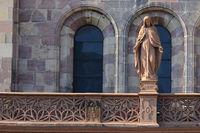 Heilige Maria am Freiburger Münster.