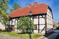 bernau bei berlin, deutschland - 30.04.2019 - kantorhaus von 1583