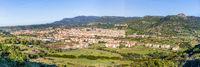 Cityscape medieval town Bosa Sardinia island