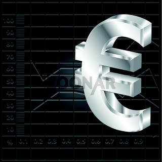 financial background with euro sign