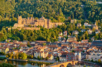 Heidelberg town on Neckar river, Germany