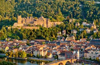 Heidelberg town on Neckar river, Germany