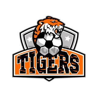 Tiger Soccer Football Ball Crest Mascot