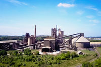 Large cement plant. The production of cement on an industrial sc