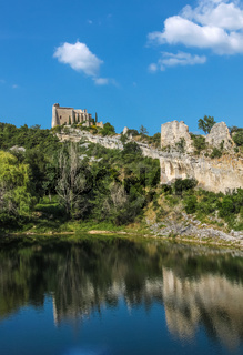 Ruin of the former castle in Saint-Saturnin-les-Apt