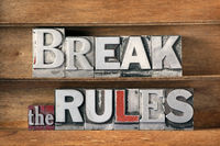 break the rules tray