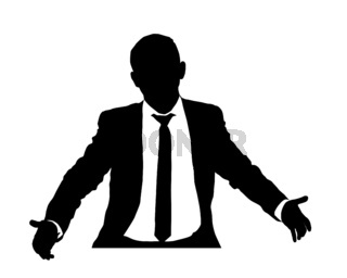 Business man with open arms 3
