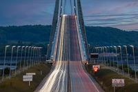 Light trails from cars at Pont de Normandie