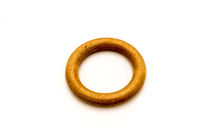 light colored wooden ring