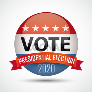 Vote Button Presidential Election 2020