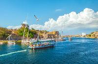 Touristic boats on Nile
