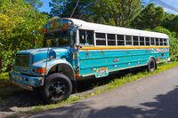 Costa Rica colorful school bus