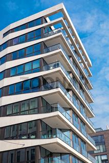 Modernes Hochhaus in Hamburg