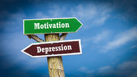 Street Sign Motivation versus Depression