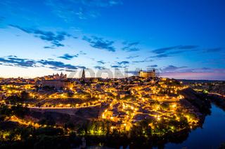 Toledo Cityscape at dusk
