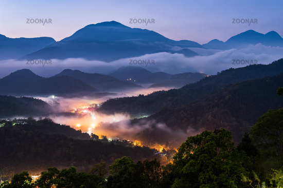 scenery of village in the mountain