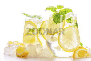Lemonade drink in a glass