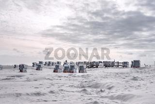 Strandkörbe am Strand von Sankt Peter-Ording