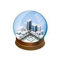 3d isometric urban city infographic concept