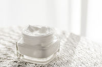 Face cream moisturizer in a jar, luxury skincare cosmetics and organic anti-aging product for health and beauty