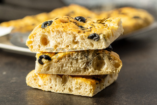 Homemade Italian Focaccia. Traditional Italian pastries