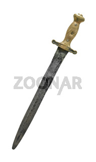 Isolated Medieval Dagger Or Sword