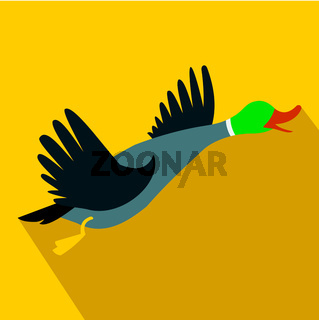 Wild duck flat icon