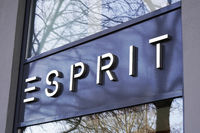 Esprit brand name sign at local fashion retail store in Hannover, Germany on March 2, 2020