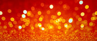 Golden christmas bokeh