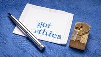 Got ethics? Question on napkin.