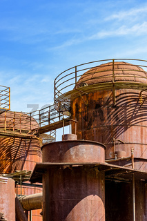 Old machinery tanks and infrastructure