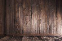 Wooden corner background