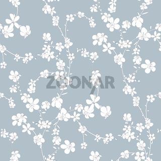 Cherry flowers pattern
