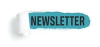 Hole in white paper with torns edges - Newsletter