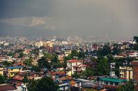 Dark clouds over Patan and Kathmandu, Nepal