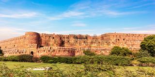 Agra Fort walls panorama, India, Uttar Pradesh