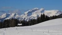 Tour d Ai, mountain near Leysin seen from Isenau.