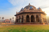 Isa Khan's tomb, beautiful sunrise view, Humayun's Tomb complex, New Delhi, India