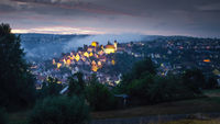 view to Altensteig Germany by night