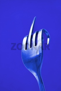 The fork was bent. so that creates a clear sign that everyone knows.
